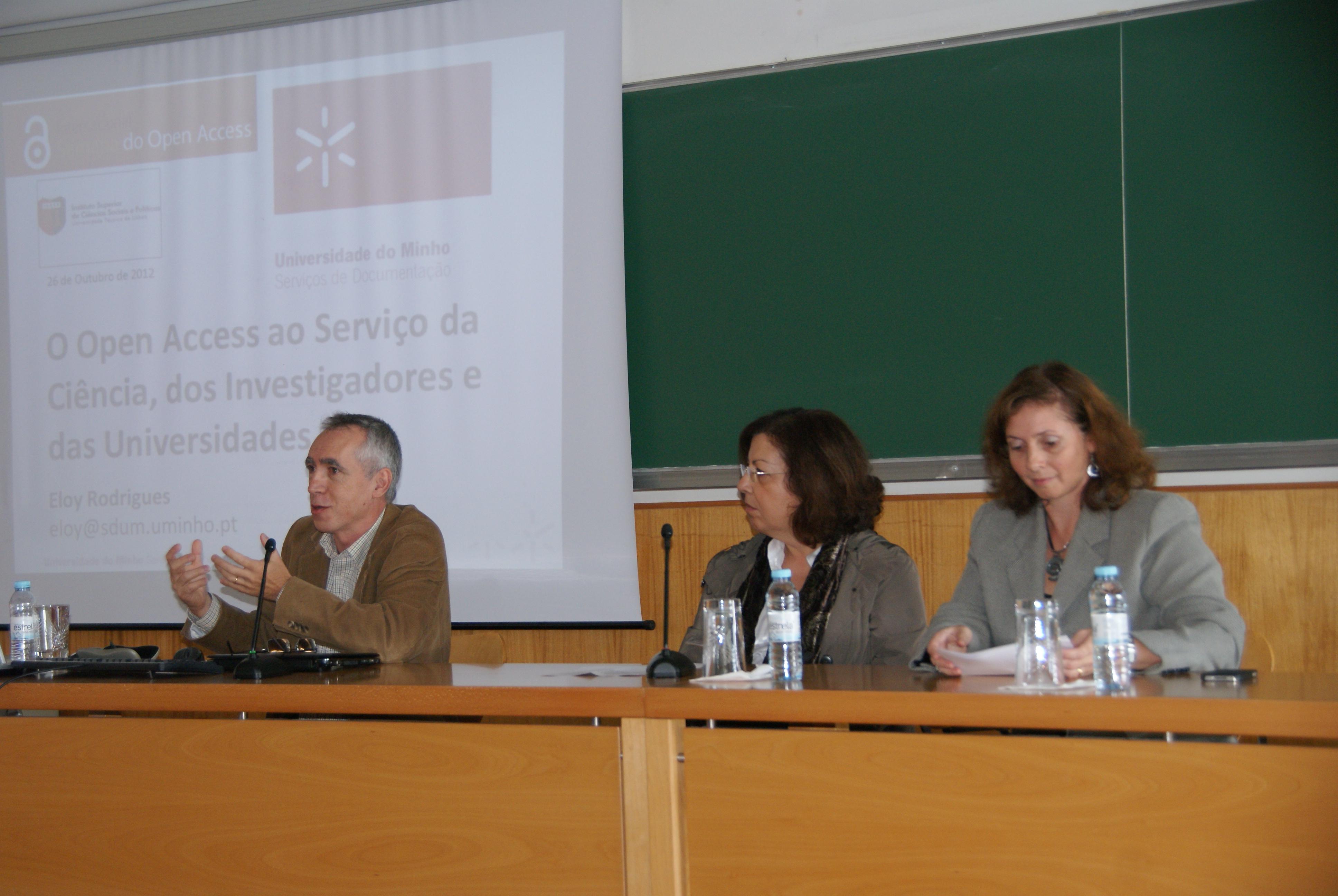 Sessão sobre o Acesso Aberto no Instituto Superior de Ciências Sociais e Políticas