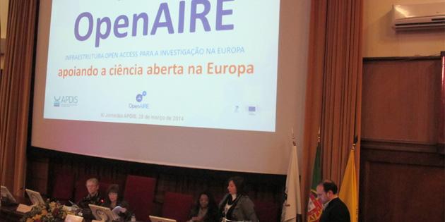 Recentes desenvolvimentos da infraestrutura OpenAIRE apresentados nas XI Jornadas APDIS