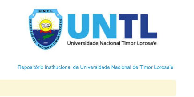 Lançamento do Repositório institucional da Universidade Nacional de Timor Lorosa'e