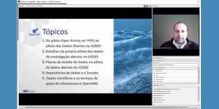 Projeto-piloto de Dados Abertos no H2020 apresentado no webinar OpenAIRE