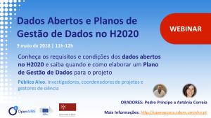 Webinar Dados Abertos e Planos de Gestão de Dados no H2020