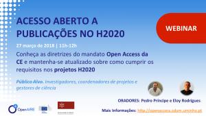 Webinar Acesso Aberto a publicações no H2020